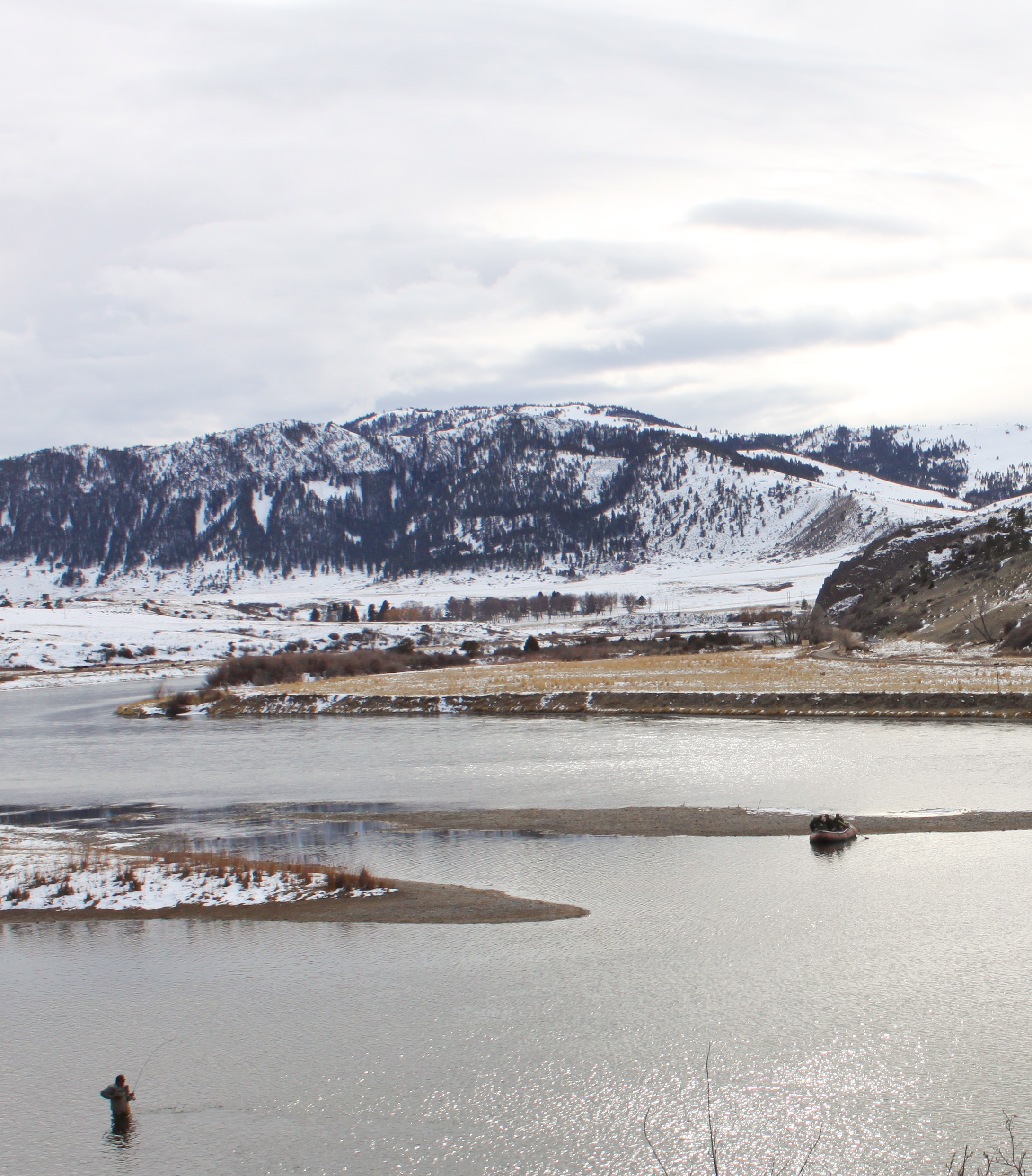 Holter Lake and Missouri River Fishing in February