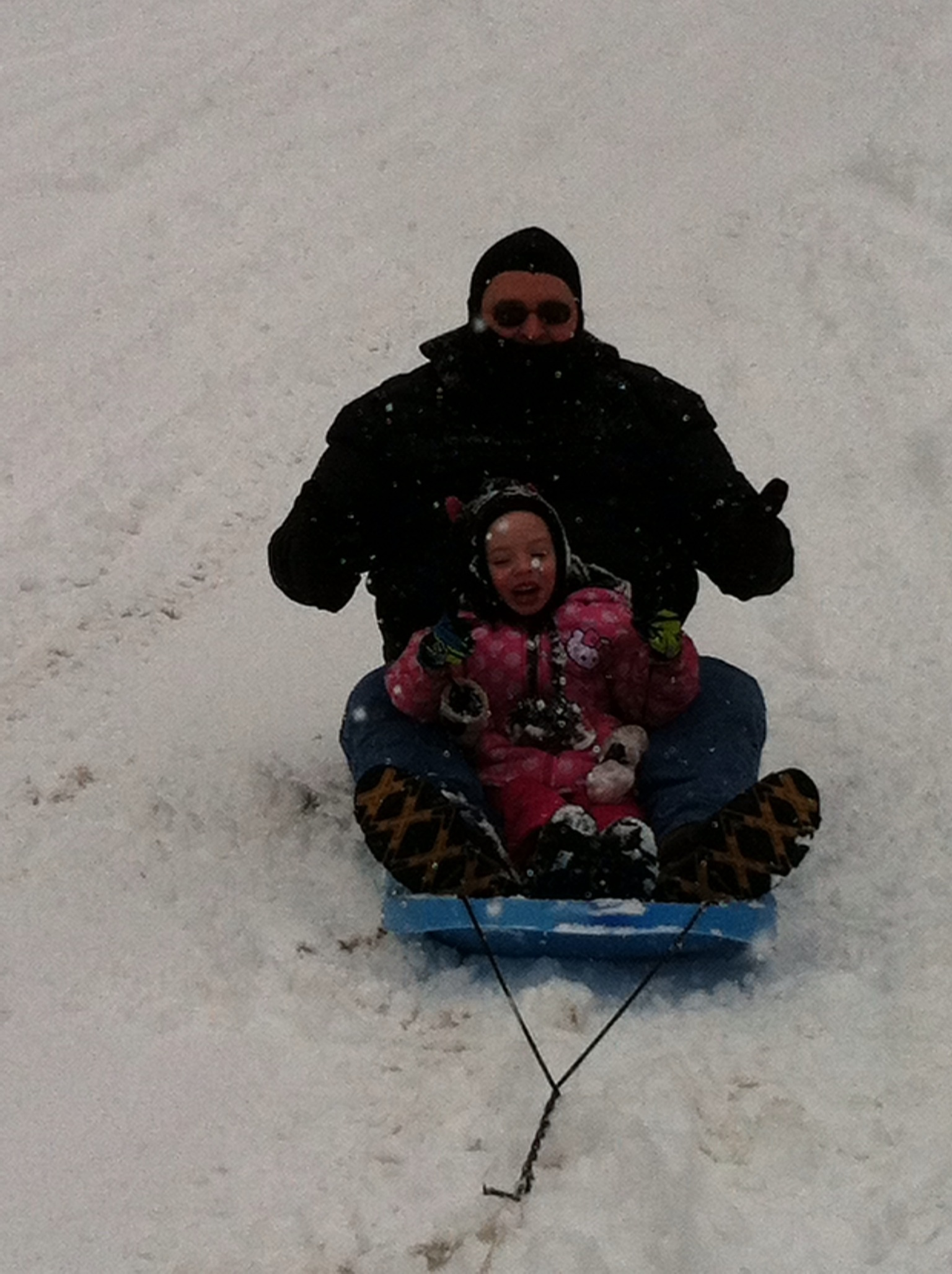 Sledding near Great Falls MT