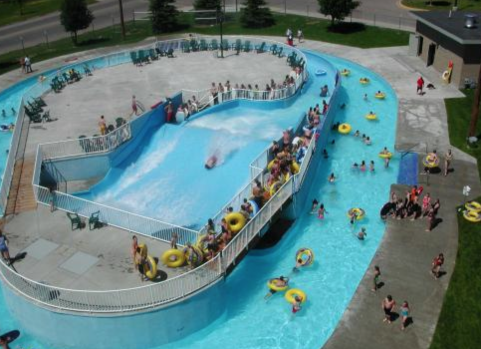 Swimming Pool Flow : Water park flow rider slides and mitchell pool